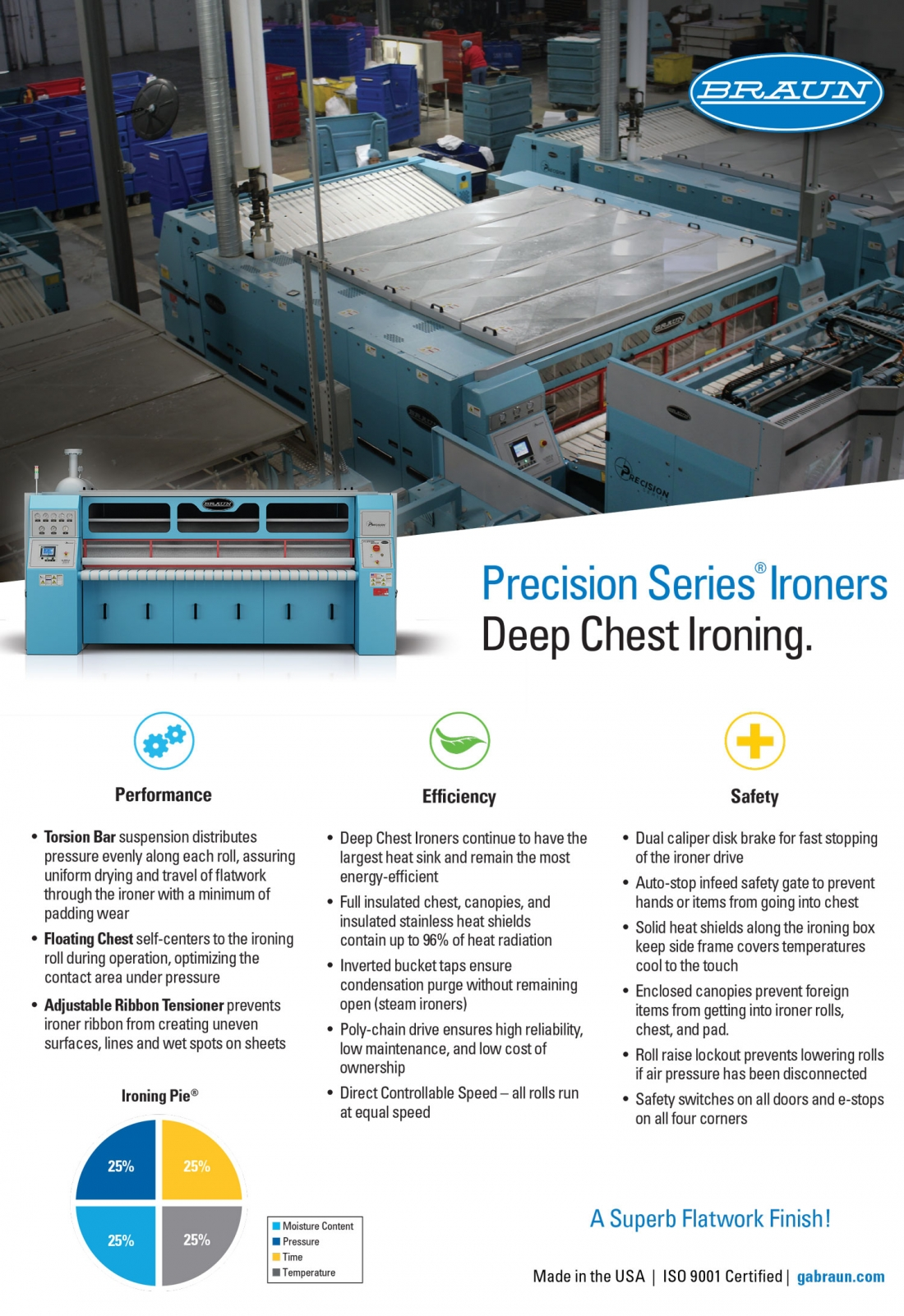 Precision Series Ironers Deep Chest Ironing